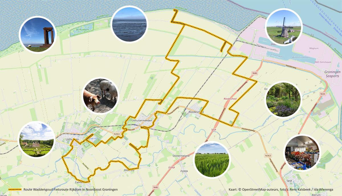 Fietsroute Rijkdom in Noord Oost Groningen