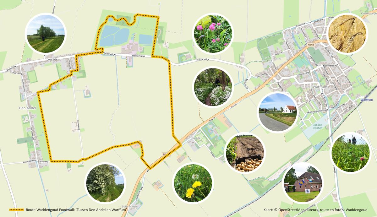Route Foodwalk Tussen Den Andel en Warffum